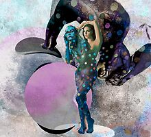 Pink Moon - Throw Cushion by Jeff Kingston