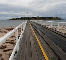 Tramline to Granite Island, victor harbour, South australia. by kaysharp