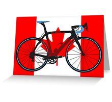Bike Flag Canada (Big - Highlight) Greeting Card