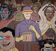 Cyclops doesn't like 3D Movies by redroseses