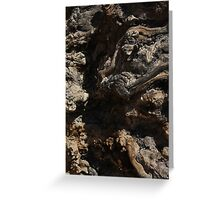 Wood Root Landscape 001 Greeting Card