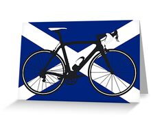 Bike Flag Scotland (Big - Highlight) Greeting Card