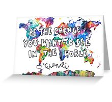 ghandi quote Greeting Card