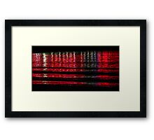 Abstract Red Water Framed Print