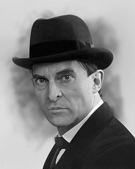 The Bohemian Holmes  - Jeremy Brett (BW) by ifourdezign