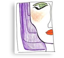 Demi-Face in Purple Canvas Print
