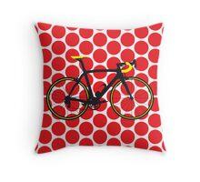 Bike Red Polka Dot (Big - Highlight) Throw Pillow