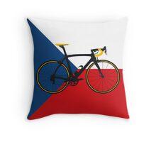 Bike Flag Czech Republic (Big - Highlight) Throw Pillow