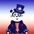 Patriotic Panda - Gradient by Adamzworld