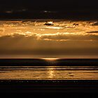 Western Super Mare Sunset in Gold by Pixie Copley LRPS