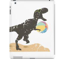 Happy T-rex dinosaur beach ball summer  iPad Case/Skin