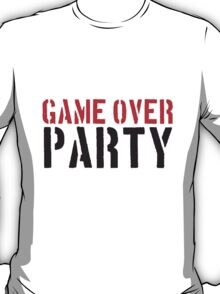 Stempel Text Game Over Party T-Shirt