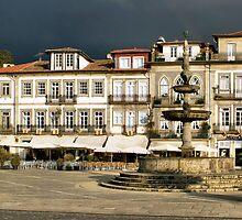 Camoes square in Ponte de Lima, Portugal by vribeiro