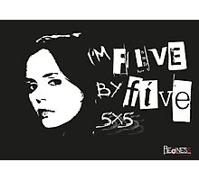 I'M FIVE BY FIVE Photographic Print