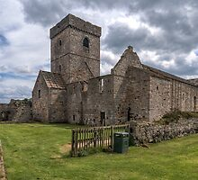 Inchcolm Abbey, Chapter and Warming House in Fife. Scotland by Miles Gray