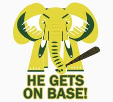 He Gets on Base! Elephant! by Soma79