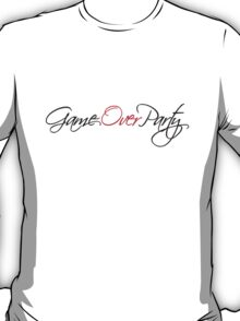 Game Over Party Text Design T-Shirt