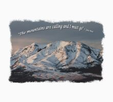 The Mountains are calling and I must go Tee Shirt or Sticker alternate design by Alan Mitchell