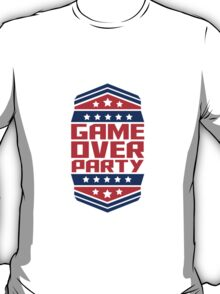 Game Over Party Design T-Shirt