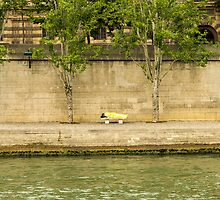 Sleeping by the Seine by MichaelJP