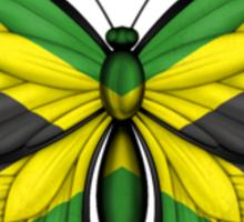 Jamaican Flag Butterfly Sticker