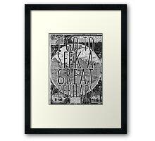 John Green -- Great Perhaps 001 Framed Print