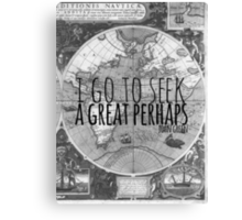 John Green -- Great Perhaps 003 Canvas Print