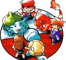 Ken Sugimori Art Red and Blue Starter by SeanOH