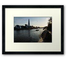 Sailing Up the Thames River in London, UK Framed Print
