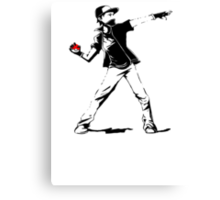 Banksy Pokemon Canvas Print