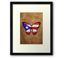 Puerto Rican Flag Butterfly Framed Print