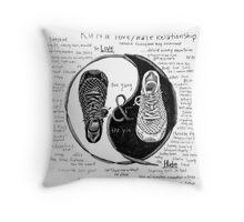 Run: A Love/Hate Relationship Throw Pillow