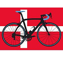 Bike Flag Denmark (Big - Highlight) Photographic Print