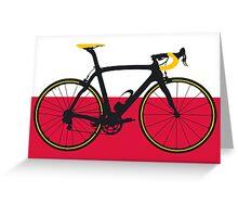 Bike Flag Poland (Big - Highlight) Greeting Card