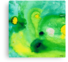Green Abstract Art - Life Pools - By Sharon Cummings Canvas Print