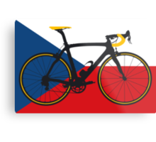 Bike Flag Czech Republic (Big - Highlight) Metal Print