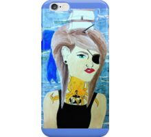 girl with boat in her hair iPhone Case/Skin