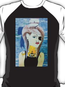 girl with boat in her hair T-Shirt