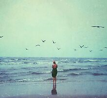 Woman at the Sea Shore by Olivia Joy StClaire