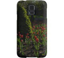 Downtown Victorian Garden - Red Tulips and Sunshine Samsung Galaxy Case/Skin