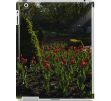 Downtown Victorian Garden - Red Tulips and Sunshine iPad Case/Skin