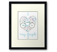 I Love my Bicycle Print Framed Print