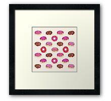 Homemade Doughnuts Framed Print
