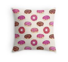 Homemade Doughnuts Throw Pillow