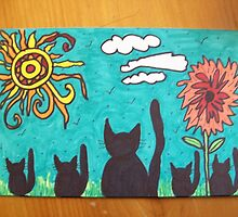 Sunny Day 5 1/2'' x 3 1/2'' by pamalamadd