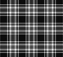 Royal Stewart Black And White Tartan by thecelticflame