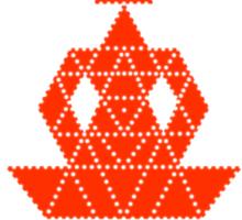 Sri Chakra Meditation Sticker