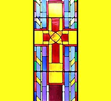 Stained Glass Crucifix - Yellow by i4design67