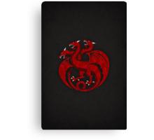 House Targaryen Minimalist Canvas Print