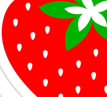 Strawberry Heart - Go Vegan Sticker